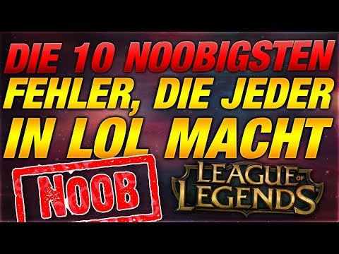 Top 10 Noobigsten Fehler die JEDER in LOL macht! [League of Legends] thumbnail