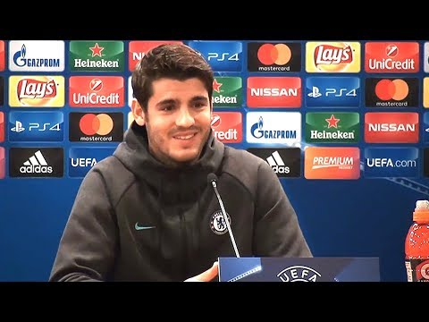 Alvaro Morata Full Pre-Match Press Conference - Roma v Chelsea - Champions League