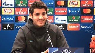 Alvaro Morata Full Pre-Match Press Conference - Roma v Chelsea - Champions League