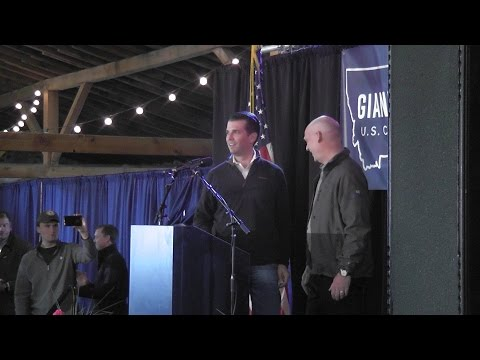Gianforte Rally Helena, Montana 11May2017 Raw Handheld video
