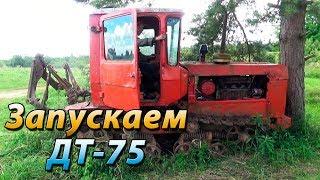Запускаем ДТ 75 после 8 лет простоя. Советская техника жива.