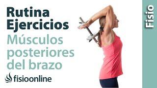 Ejercicio de reprogramación para musculatura posterior del brazo