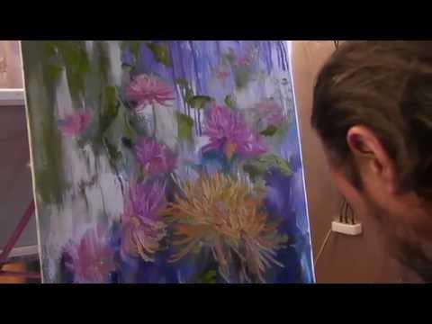 Цветы, букет, живопись маслом, научиться рисовать, художник Сахаров