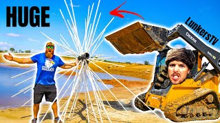Building HUGE DIY Fishing Structure for LunkersTV Private Lake!!!
