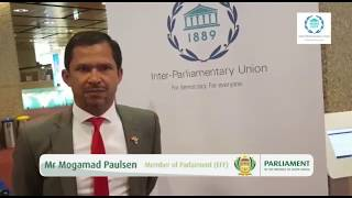 Mr Mogamad Paulsen at the Inter-Parliamentary Union