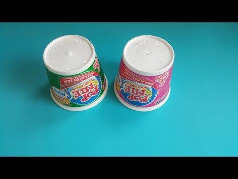 Cara Membuat Vas Bunga Styrofoam Bekas dari Gelas Pop Mie   Trik Idetrik