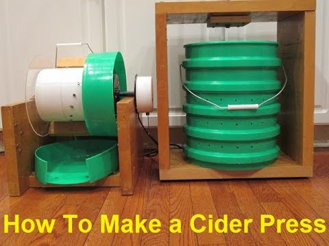 How To Make An Apple Masher And Cider Press Youtube