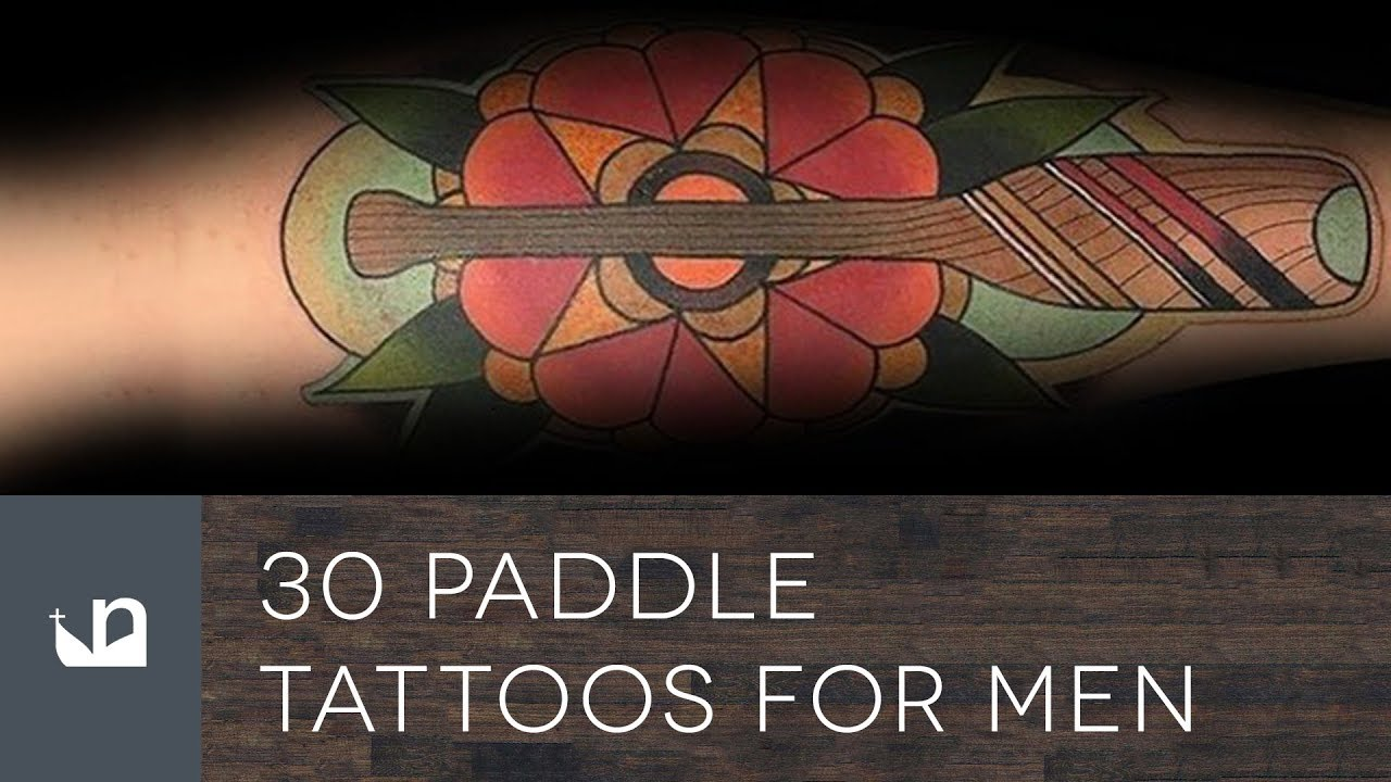30 Paddle Tattoo Ideas For Men – Rowing Designs