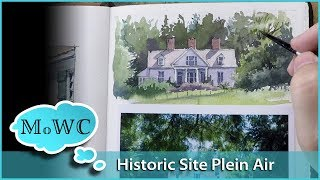 Historic Home Plein Air Watercolor Painting Excursion