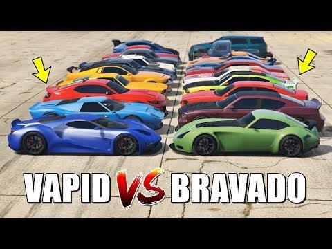 GTA 5 ONLINE - VAPID VS BRAVADO (WHICH IS FASTEST?)