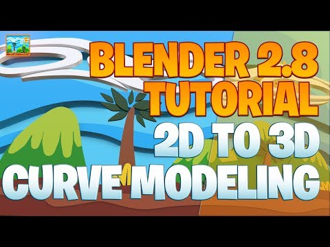 Daily 2D to 3D Modeling Part 14 - Blender 2.8 Tutorial - Game Background thumbnail