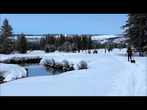 Cross country backcountry Yellowstone National Park Bechler River Winter Ski Trip