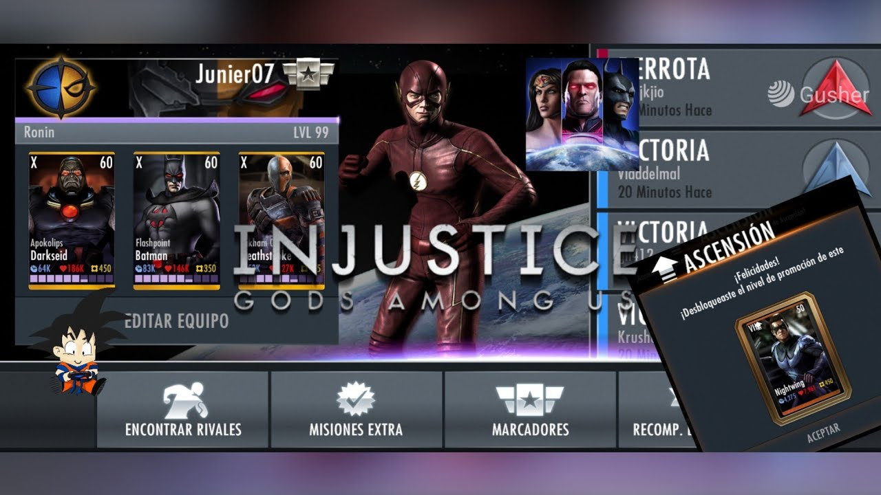 Injustice Gods Among Us Android Batallas Flash Metahumano Online 8 Julio 2020