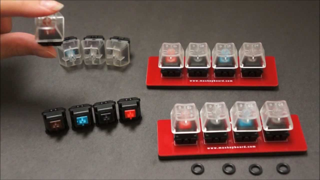 Max Keyboard Premium PCB mount Cherry MX Switch, O-Ring and Keycap ...