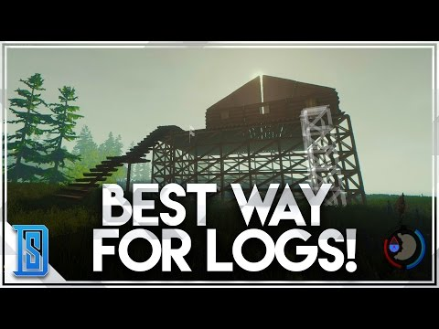 The Forest Multiplayer Pt.6 - BEST WAY TO GET WOOD/MEGA BUILD!