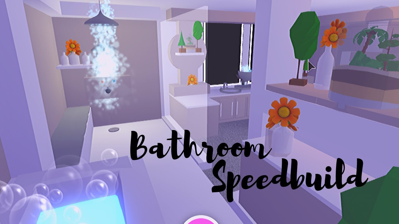 Bathroom Speedbuild Adopt Me Roblox Youtube In 2021 Cute Room Ideas Cool House Designs Adoption Bathroom ideas adopt me