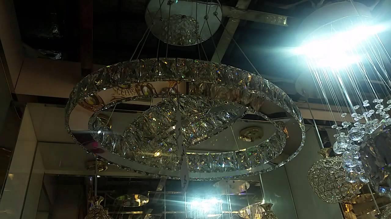 Led Chandelier Modern 2 Ring Oval Crystal Remote 1495 Light Dining Room Lounge Pendant You