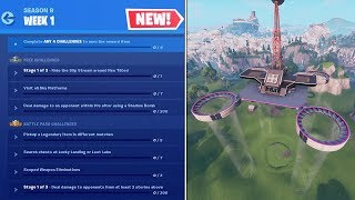 How To Complete ALL WEEK 1 CHALLENGES in SEASON 9 - Fortnite Battle Royale