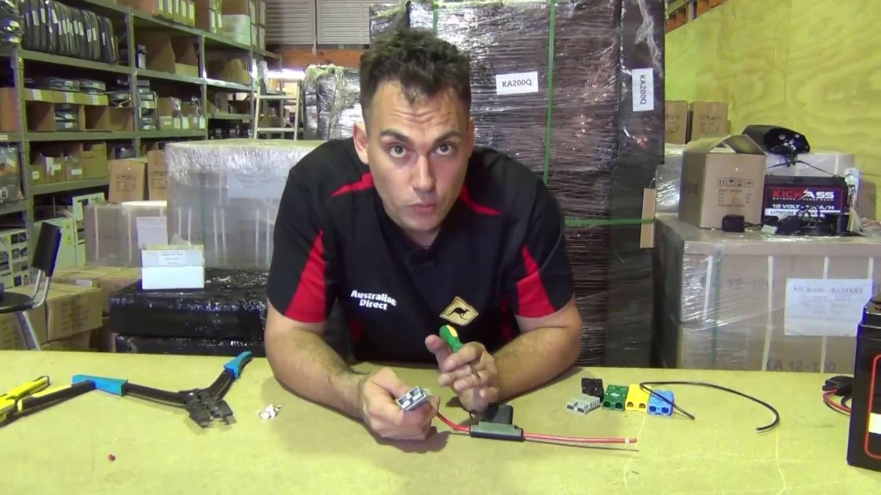 12 Volt Anderson Plugs Youtube 12v Circuit Breaker Wiring Diagram
