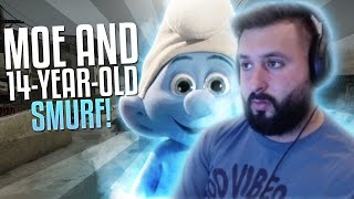 M0E PLAYS WITH 14 YEAR OLD SMURF! CS:GO ROAD TO GLOBAL #35