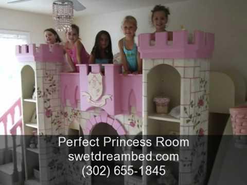 Girls Princess Castle Bedroom Fantasy Themed Beds Kids Disney