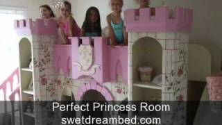 Girls Princess Castle Bedroom | Fantasy Themed Beds Kids | Disney Princess Furniture