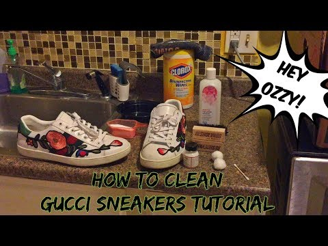Gucci Ace Sneakers Restoration/Cleaning (Reshoevn8r Tutorial)