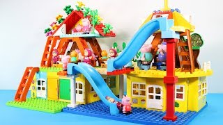 Peppa Pig Building Blocks House Lego Toys For Kids - Lego Duplo House Creations Toys