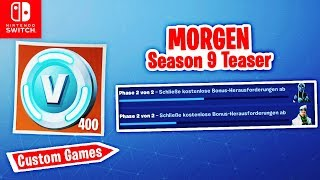 🔴 SEASON 9 Teaser, V-Bucks (Inferno) & Custom Games | Fortnite Switch Deutsch