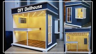 DIY Miniature Dollhouse (NO Kit) 미니어쳐 복층집 만들기 #1 - 레아