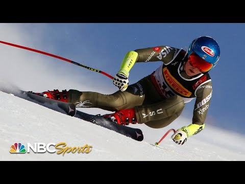 Mikaela Shiffrins winning Super-G run at Ski World Championships | NBC Sports