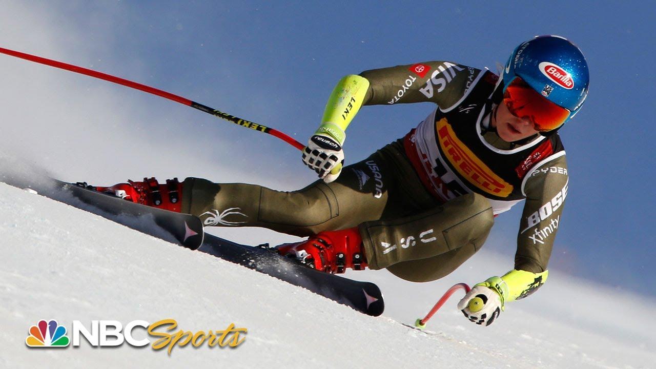 Mikaela Shiffrin's winning Super-G run at Ski World Championships | NBC Sports