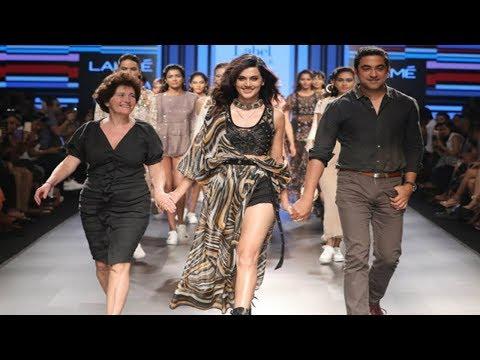 Taapsee Pannu Walks For Ritu Kumar   Spring/Summer 2018   Lakme Fashion Week