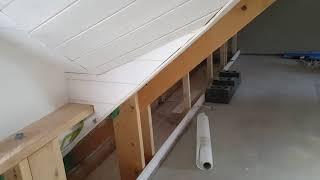 Fledermausgaube Innenverkleidung in Holz