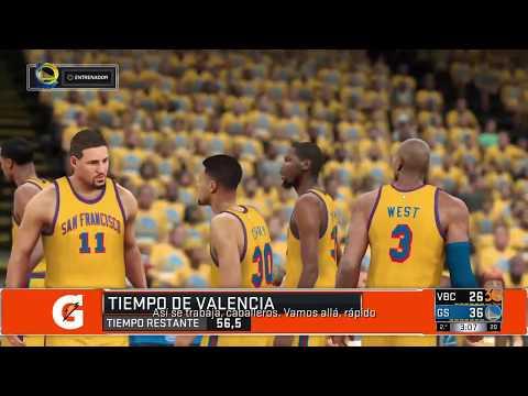 NBA 2K17: Golden State Warriors vs Valencia
