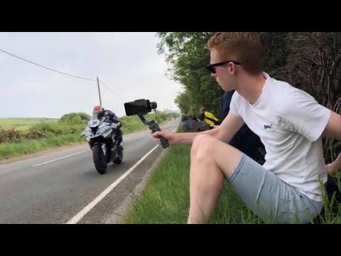 Isle of Man TT Motorradrennen - Angst im Gesicht von TT Neuling