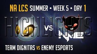DIG vs NME HIGHLIGHTS | Week 5 NA LCS Summer Split 2015 S5 | Dignitas vs Enemy Esports W5