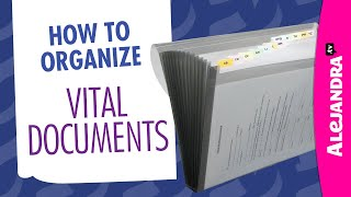 How to Organize Important Documents at Home Part 6 of 10 Paper Clutter Series