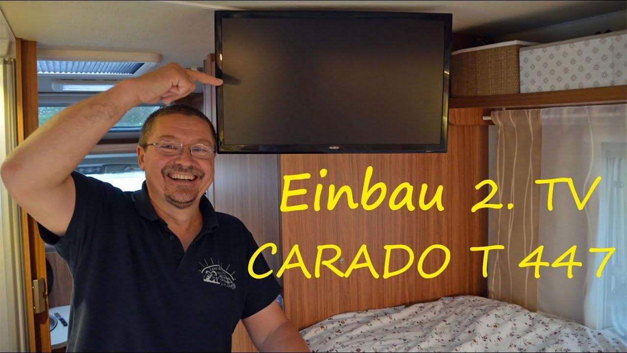 Leni & Toni im WOHNMOBIL: heute baut Toni einen 9. Fernseher ein  CARADO  T9