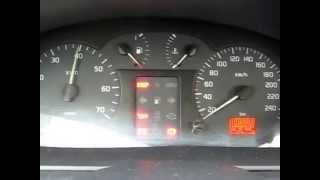 Тест приладовій панелі Renault Megane 1