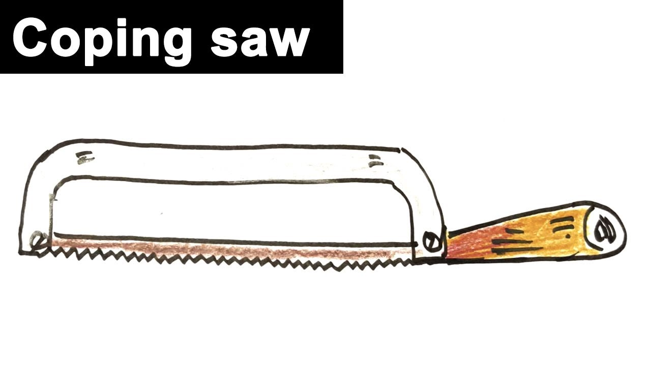 How to draw coping-saw - Drawing tutorials for beginners ...