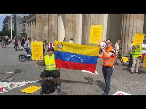"""EU – #HaendewegvonVenezuela !! #Aufstehen bei Demo """"Ein Europa für alle"""