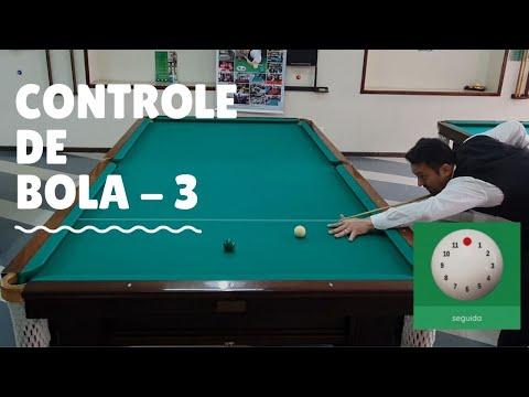Como controlar a bola branca na sinuca (Rotina De Treinamento) - 3ª Parte