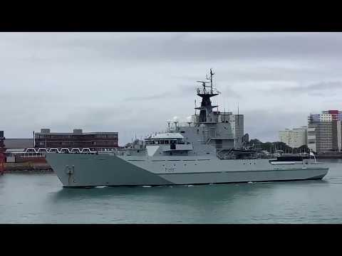 HMS Medway And HMS Tyne Sail From Portsmouth
