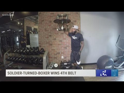 News Around The Lone Star State - FROM KCEN - Soldier-turned-boxer wins 4th belt