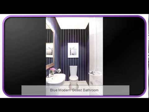 Blue Modern Guest Bathroom