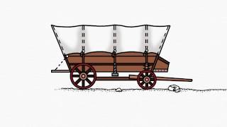 How To Draw A  Covered Wagon Part 2