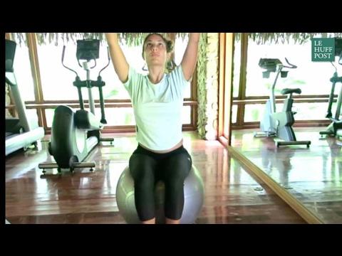 7 postures de yoga avec une gym ball