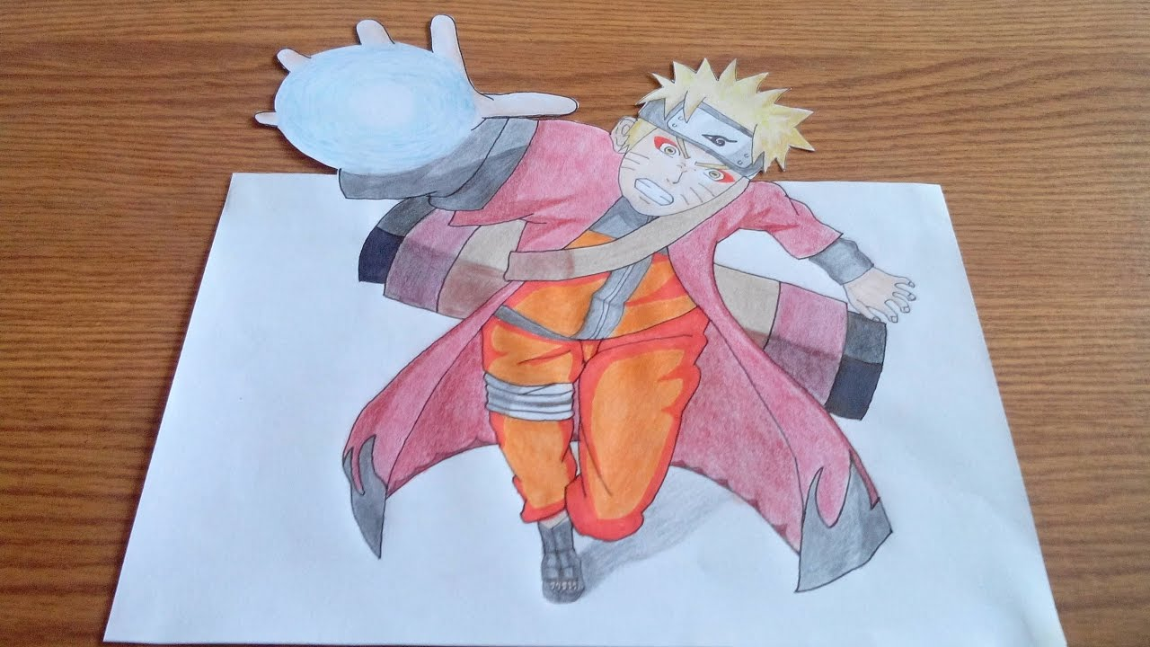 Naruto 3D Drawing
