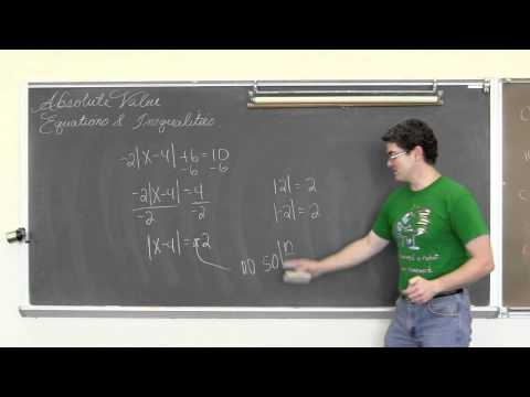 Absolute Value Equations & Inequalities and the Number Line